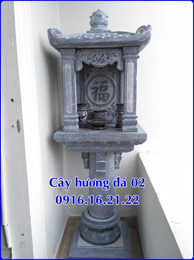 Mẫu cây hương đá thờ thiên 02