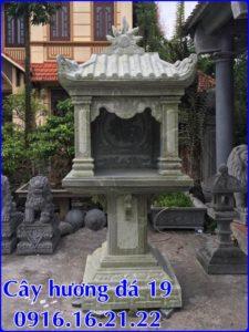 Mẫu cây hương đá thờ thiên 19