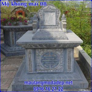 Mẫu mộ không mái bằng đá 08