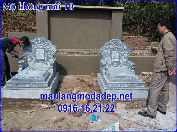 Mẫu mộ không mái bằng đá đẹp 10