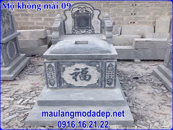 mộ không mái bằng đá đẹp 09