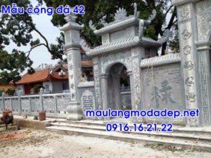 Mẫu cổng nhà thờ họ đẹp bằng đá 42 - mẫu cổng đá đẹp, cổng tam quan