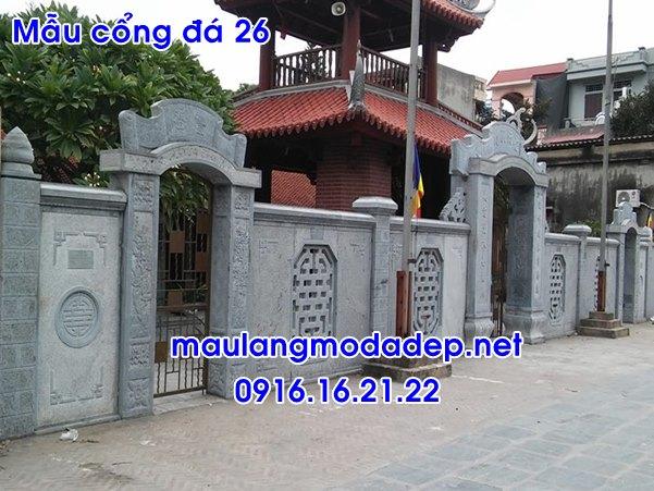 Mẫu cổng tam quan đẹp - Mẫu cổng tam quan chùa