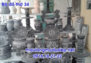 Bộ đồ thờ bằng đá xanh Thanh Hóa