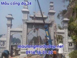 Mẫu cổng tam quan đá đẹp nhất 24 - cổng tam quan, mẫu cổng đình chùa