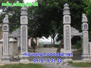 Ảnh cổng nhà thờ họ bằng đá 62