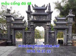 Ảnh cổng nhà thờ họ bằng đá 68