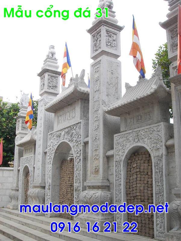 Cổng đình chùa bằng đá 31