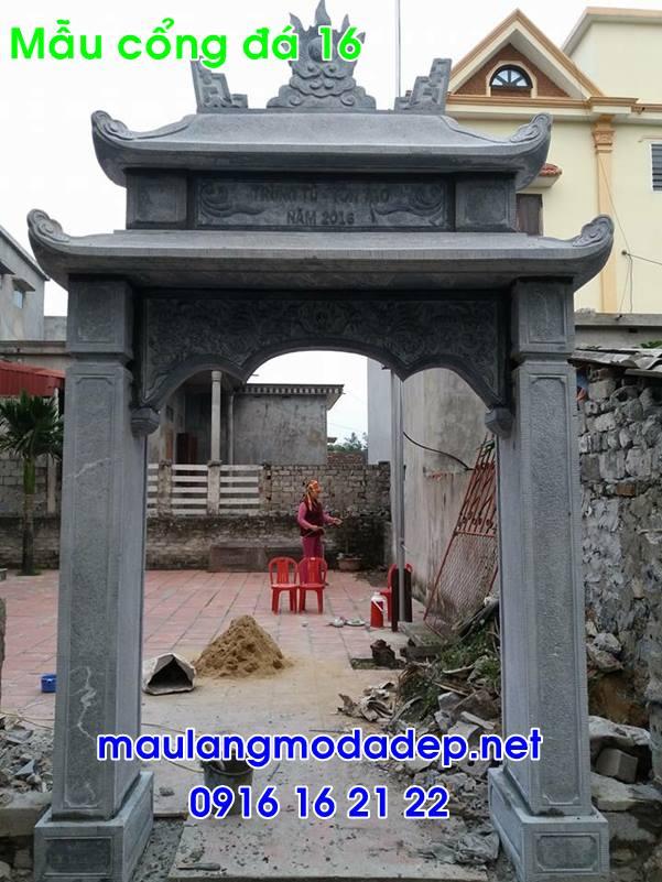 Cổng nhà thờ họ bằng đá-16