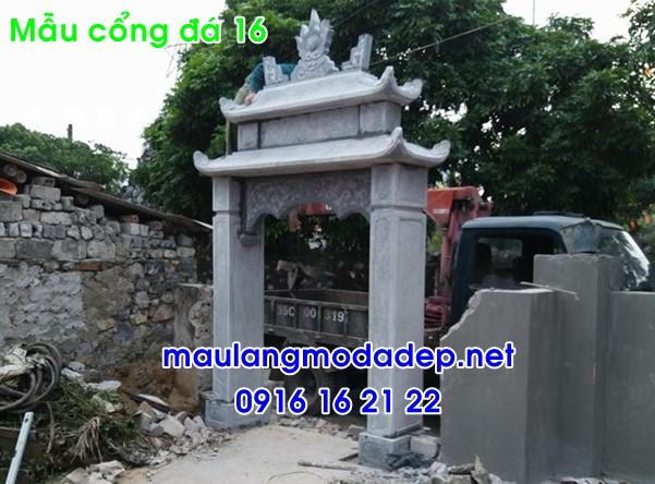 Cổng nhà thờ họ bằng đá 16