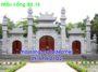 Cổng tam quan chùa bằng đá 15