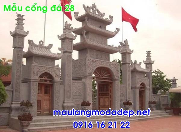 Cổng tam quan chùa bằng đá 28