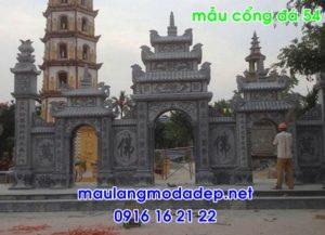 Mẫu cổng chùa đẹp bằng đá 54