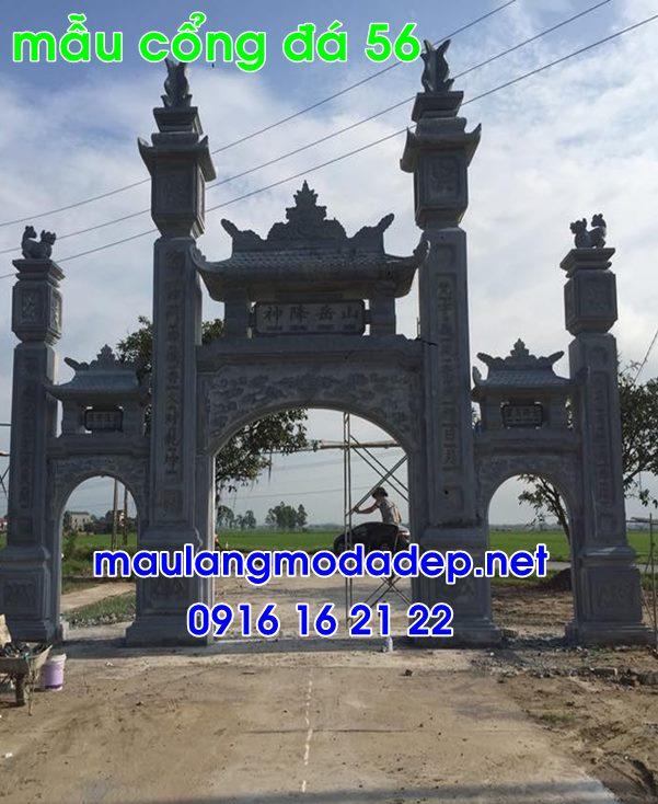 Mẫu cổng chùa đẹp bằng đá-56