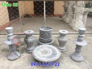 Bộ đồ thờ bằng đá xanh ở Hà Nôi 02