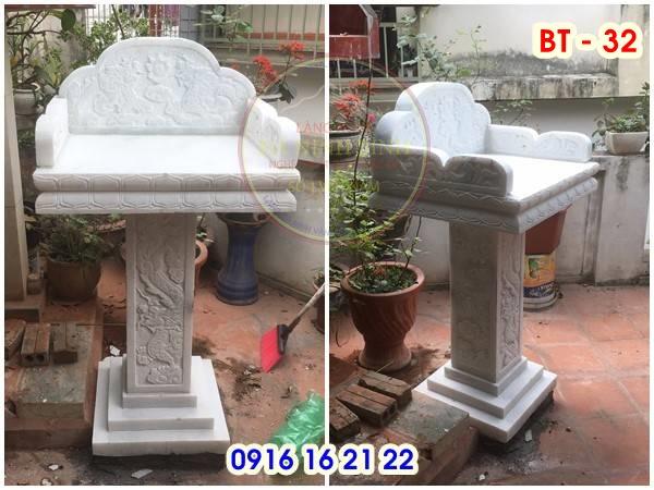 19 mẫu bàn thờ thiên ngoài trời đẹp bằng đá trắng thiết kế đẹp