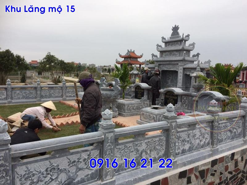 Lăng mộ đá ninh bình thiết kế đơn giản đẹp bán tại thái bình 15