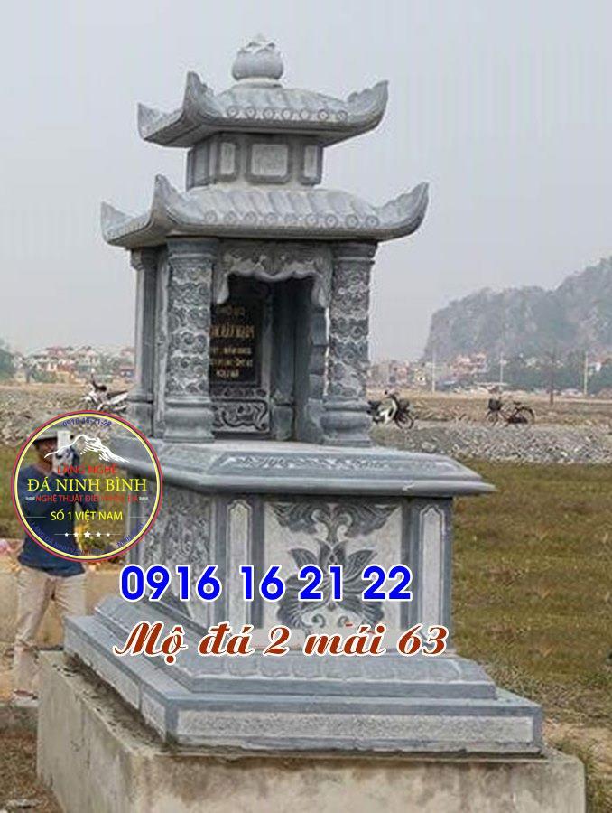 12 mẫu mộ đá đẹp có mái che chế tác tại ninh bình