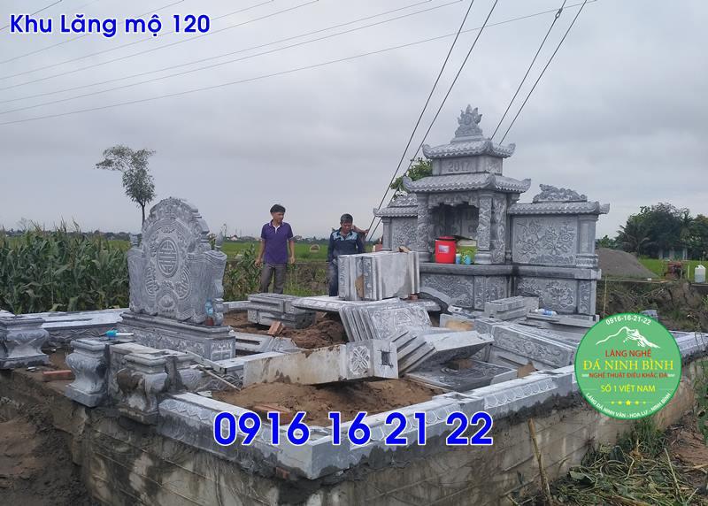 Khu lăng mộ đá gia đình cho dòng họ đẹp nhất 120