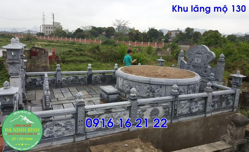 Khu lăng mộ đá nghĩa trang gia đình cho dòng họ giá rẻ đẹp 130
