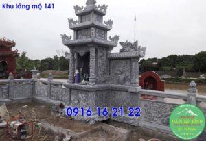 Khu lăng mộ đá xanh thanh hóa bằng đá khối cho dòng họ giá rẻ 141