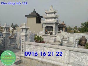 Khu lăng mộ đá xanh thanh hóa bằng đá khối cho dòng họ giá rẻ 142