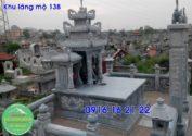 Khu lăng mộ đá xanh thanh hóa xây đẹp cho dòng họ giá rẻ 138