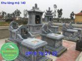 Khu lăng mộ đá xanh thanh hóa xây đẹp cho dòng họ giá rẻ 140