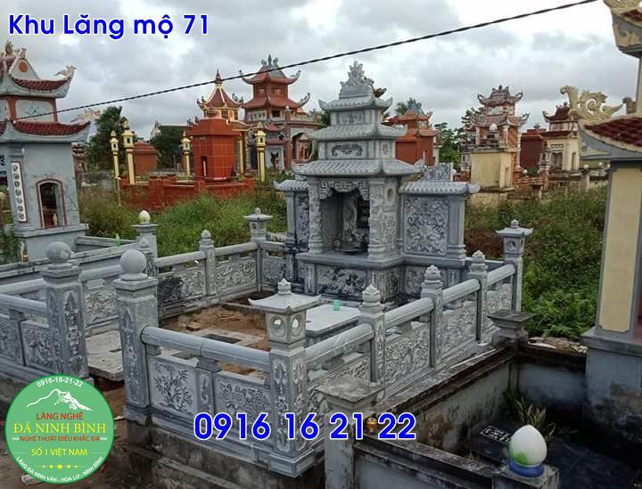 Những mẫu lăng mộ xây đẹp giá rẻ bằng đá tại đông anh 71