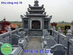 Những mẫu lăng mộ xây đẹp giá rẻ bằng đá tại đồng văn 70