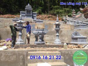 Thiết kế khu lăng mộ mẫu lăng mộ đẹp cho dòng họ bằng đá 113