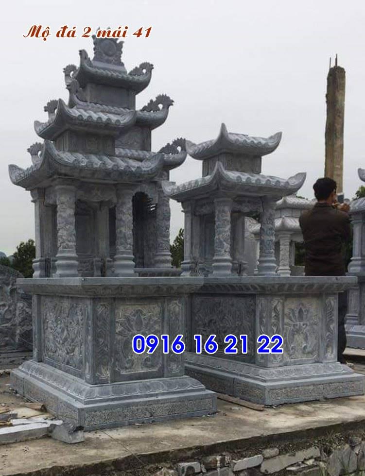 mộ đá đẹp có mái che chế tác tại ninh bình 41