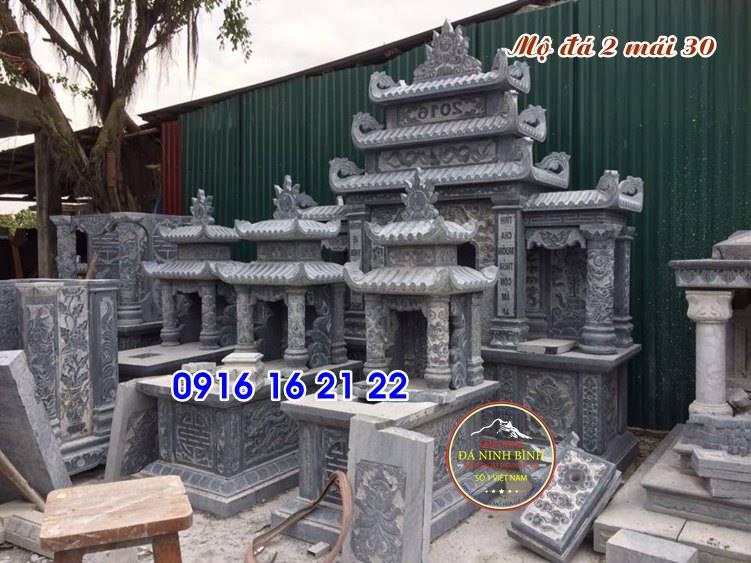 mộ đá đẹp có mái che chế tác tại ninh bình