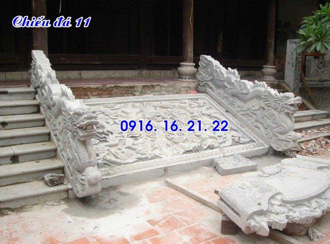 Chiếu rồng nhà thờ họ từ đường đình chùa bằng đá đẹp