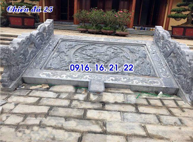 Chiếu rồng nhà thờ họ từ đường đình chùa đẹp thiết kế bằng đá 25
