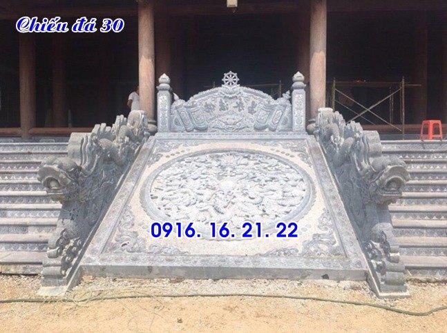 Chiếu rồng nhà thờ họ từ đường đình chùa đẹp thiết kế bằng đá 35