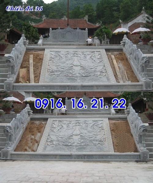 Chiếu rồng nhà thờ họ từ đường đình chùa đẹp thiết kế bằng đá 36