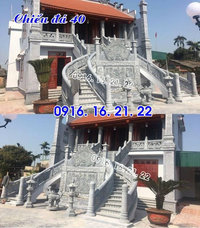 Chiếu rồng nhà thờ họ từ đường đình chùa đẹp thiết kế bằng đá 40