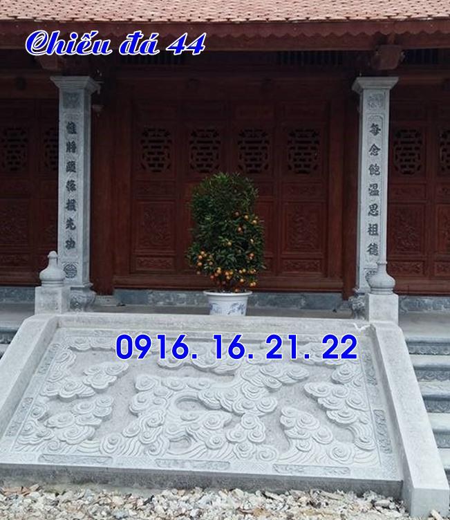Chiếu rồng nhà thờ họ từ đường đình chùa đẹp thiết kế bằng đá 44