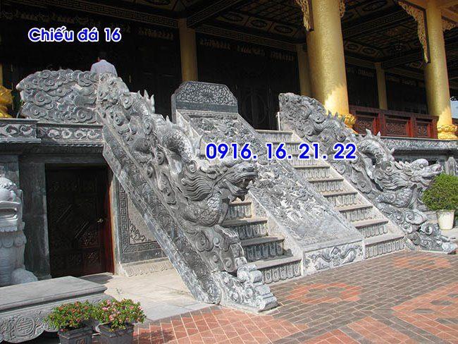 Chiếu rồng nhà thờ họ từ đường đình chùa đẹp thiết kế bằng đá
