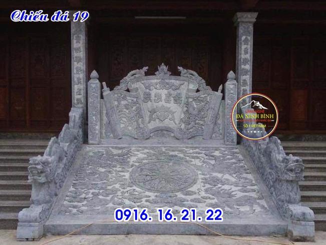 Chiếu rồng đá nhà thờ họ đình chùa đơn giản giá rẻ