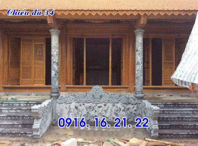 Chiếu rồng đá nhà thờ họ đình chùa thiết kế đơn giản 34