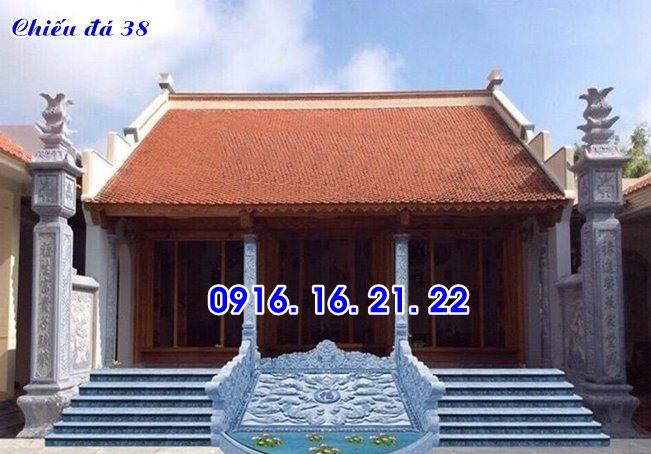 Chiếu rồng đá nhà thờ họ đình chùa thiết kế đơn giản 38