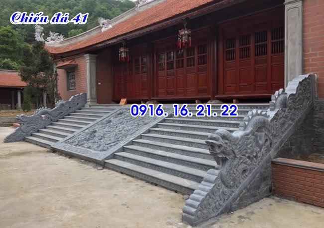 Chiếu rồng đá nhà thờ họ đình chùa thiết kế đơn giản 41