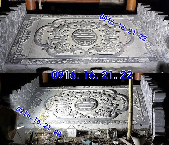 Chiếu rồng đá nhà thờ họ đình chùa thiết kế đơn giản 48
