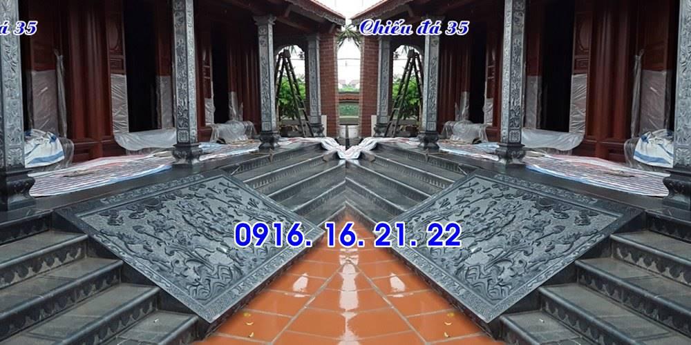 Chiếu rồng đá nhà thờ họ đình chùa thiết kế đơn giản