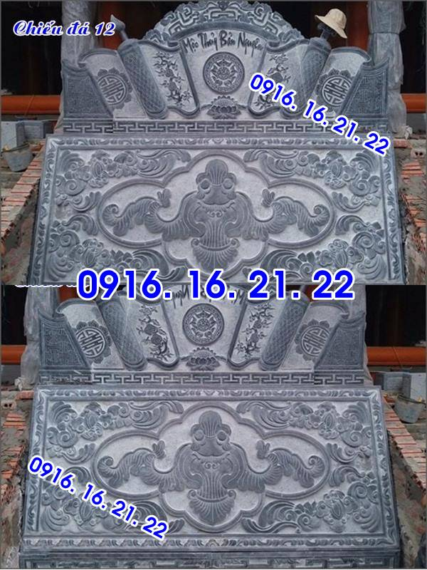 vHình ảnh mẫu chiếu rồng đẹp bằng đá trước cửa nhà thờ họ 12