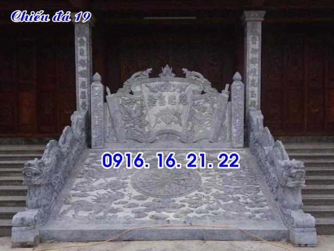 Hình ảnh mẫu chiếu rồng đẹp bằng đá trước cửa nhà thờ họ 19