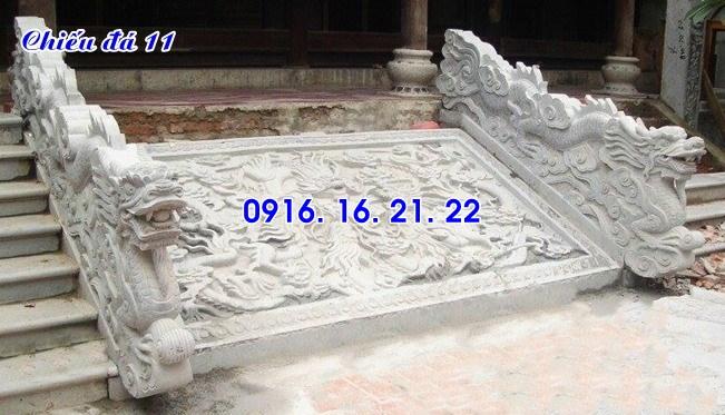 Mẫu chiếu rồng đá chiếu đá bậc thềm đẹp nhất trước cửa nhà thờ đình chùa 11
