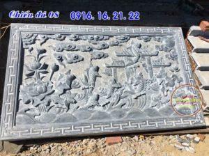 Mẫu chiếu rồng đá chiếu đá bậc thềm đẹp nhất trước cửa nhà thờ đình chùa
